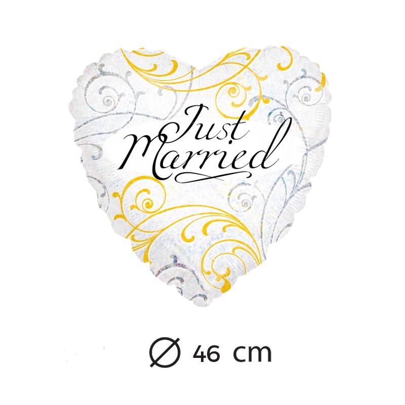 ballon-just-married-mylar-coeur-46-cm